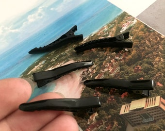 20pc black 40mm metal hair alligator clip accessories