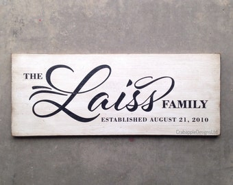 Family Name and Established Date Outdoor Sign {Personalized}