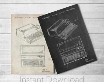 Apple Computer Printables, Apple Print, Technology Art, Computer Decor, Steve Jobs, PP0171