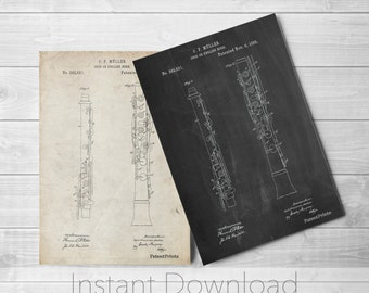Oboe Printables, Music Room Wall Art, Symphony, Band Director, Music Room Decor, Musician Gift, PP0247