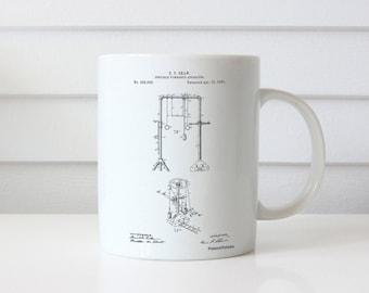 Portable Gymnastic Bars 1890 Patent Mug, Gymnast Gift, Gymnastics Mugable, Vintage Sports Decor, Coach Gift, PP0664