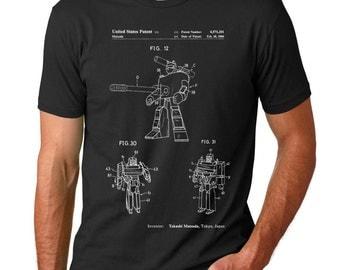 Megatron Patent Patent T Shirt, Vintage Toys, Geek Shirt, PP0184