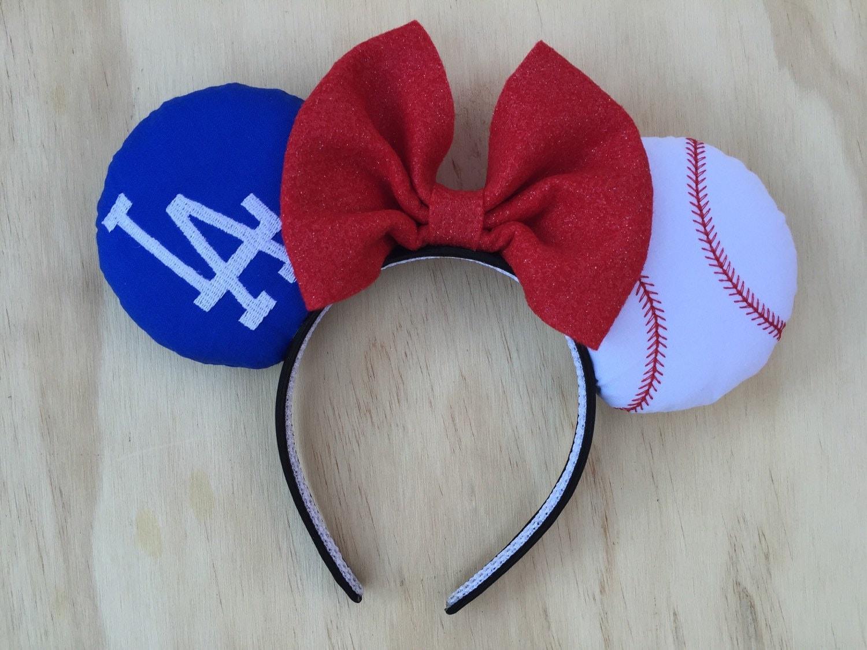 La Dodgers Minnie Mouse Ears By Fieldofthread On Etsy