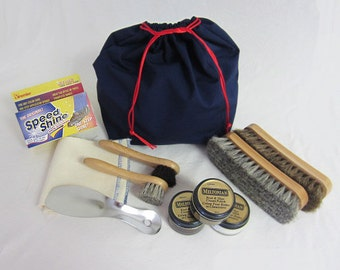 Shoe Shine Kit in our Blue Bag