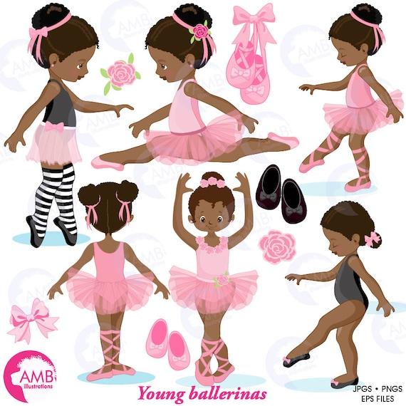 Baby Princess Salon Beauty Leg Ballet: Ballerina Clipart, Ballet Clipart, African American Ballet