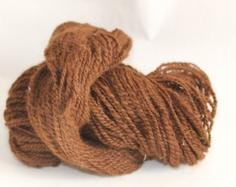 Alpaca Hand spun wool yarn - Alpaca Yarn, worsted weight yarn, Luxury Yarn, Natural color, brown