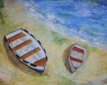 "Original artwork ""Quietly Waiting"" - Acrylic Mixed Media Painting"
