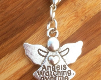 Angels watching over me zipper charm, Angel, Guardian Angel,
