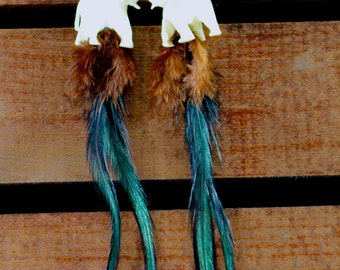 Feather Earrings, One of a Kind, #18