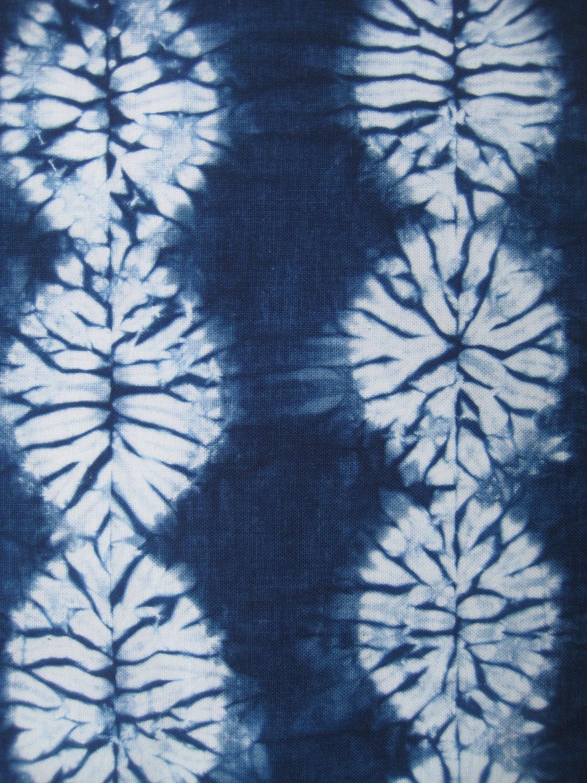 Indigo Shibori Fabric Hand Dyed Fat Quarter From