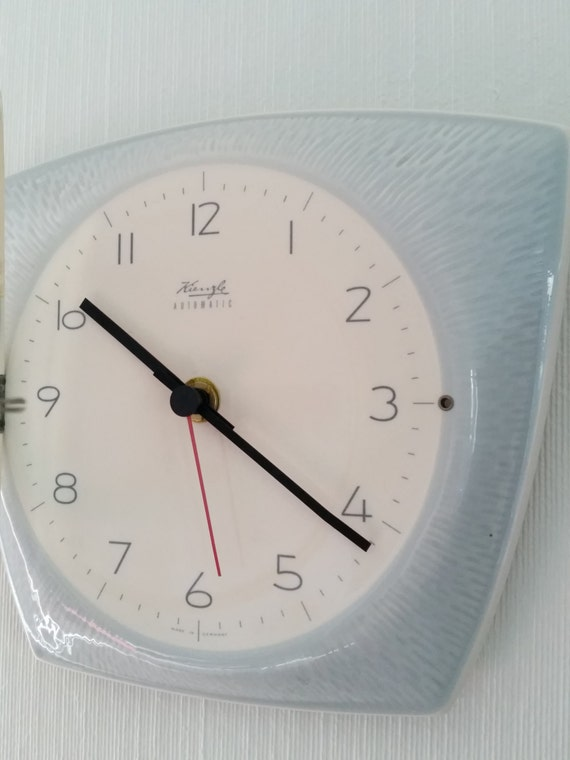 50s kienzle vintage ceramic wall clock automatic modern home for Kienzle wall clock made in germany