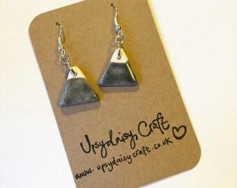 Ceramic Mountain Earrings - Black