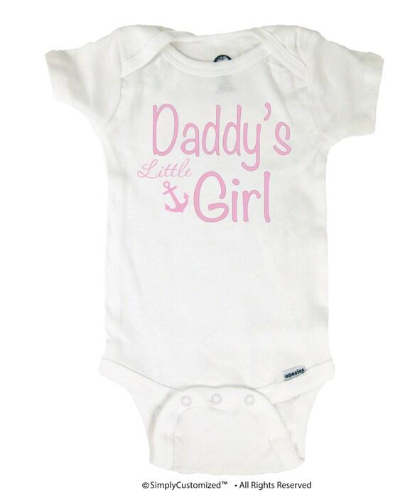 Baby Onesie Daddy's Little Girl Bodysuit Baby Shower