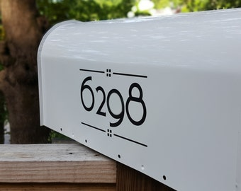 2 Sets of Craftsman Style Custom Mailbox Number Decals