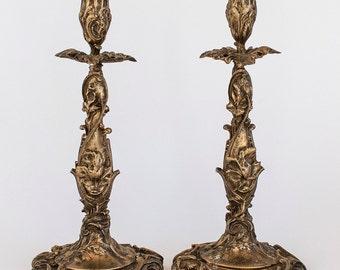 Art Nouveau Style Candleholders, Pr