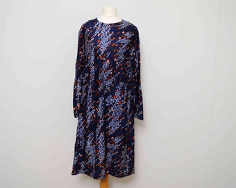 Vintage Riddella 70's Abstract Print shift Dress UK 14