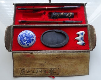 Antique small calligraphy set