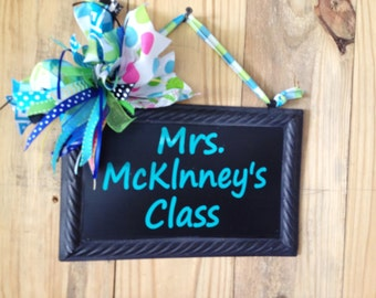 Teacher's Sign- Back To School Sign- Chalkboard Sign-Teacher's Chalkboard Sign- Custom Teacher's Sign
