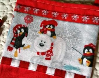 Flannel Christmas Stocking / Handmade