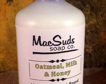 OATMEAL MILK HONEY, Milk and Honey, Paraben free, Non-greasy lotion, Organic body lotion, Vegan lotion,  Body lotion, Body moisturizer