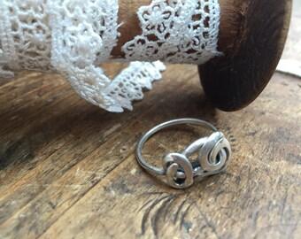 Handmade 925 Sterling Silver Wire Twist Ring