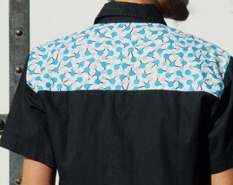 """1 men shirt """" MOLECULE """" printed"""