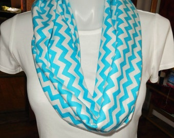 Chevron FlannelTurquoise Chevron infinity scarf,
