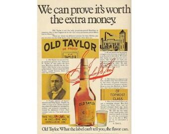 Vintage newspaper ad for Old Taylor Bourbon - 207