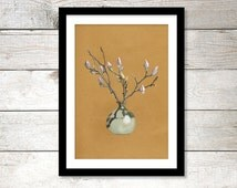 Poster Magnolia | 210 x 297 mm | 8 x 11,7 inches | Art print, Wall print, Wall art, Home decor, Poster, Print, Plant