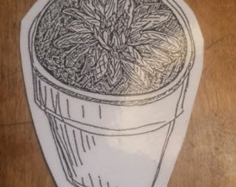 Potted Plant // Sticker