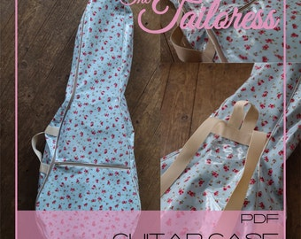 Guitar Case Cover PDF Sewing Pattern Instant Downloadable Digital PDF with Tutorial - Small and Regular size