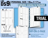 Trial [PERSONAL DS9 do2p EDITABLE] August to October 2016  - Filofax Inserts Refills Printable Binder Planner Midori.