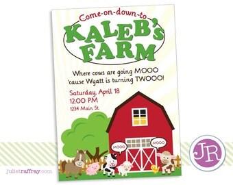 Down on the Farm Birthday Invitation