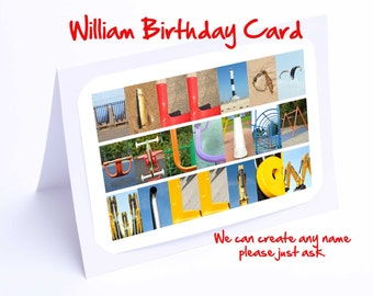 William Personalised Birthday Card