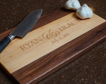 Maple & Walnut Personalized Cutting Board