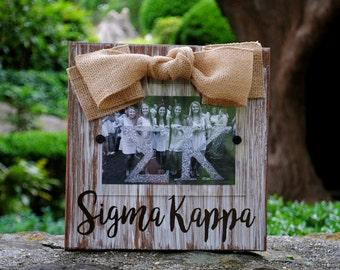 Sigma Kappa Whitewashed Rustic Frame