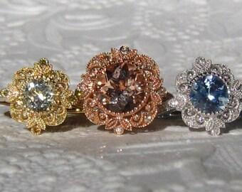 Custom Design: Filigree Engagement Ring Mount with Milgrain Bezel