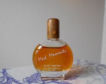 Mad Moments parfum by Madeleine Mono 0.25 oz. miniature splash bottle. Vintage perfume, circa 1980s.