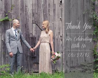 175 Custom Wedding Photo Thank you cards for Lexi