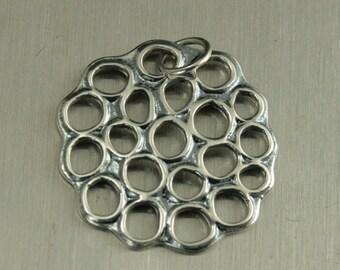 Sterling Silver Lotus Pod Charm--Pond Water Pendant--Seed Holder--Birthstone Holder Charm--Beautiful Pendant--Lotus Flower--Seed Pod
