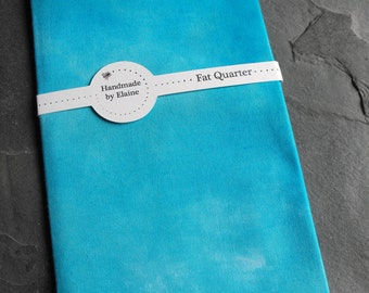 Powder Blue Fat Quarter - Hand Dyed Fabric, Chalky Dappled Cobalt Cerulean Azure Arctic Tanzanite Forget-Me-Not Blue Quilting Cotton, 3121