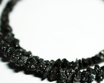 "Black Diamond, Size 3 mm, - 2"" Strand, Cut Beads,  Fancy Shape"