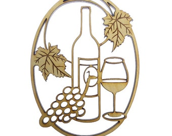 Wine Ornament - Wine Ornaments - Wine Lover Ornament - Wine Gifts - Wine Gift - Wine Decor - Gift for Wine Lover