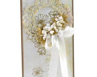 Handmade Card / Hand-Stamped Card / On Wedding Day Card / Mr & Mrs / Hochzeit