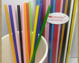 "50pcs 6"" x 5/32"" Plastic  Lollipop Sticks for Cake Pops - 9 colors"