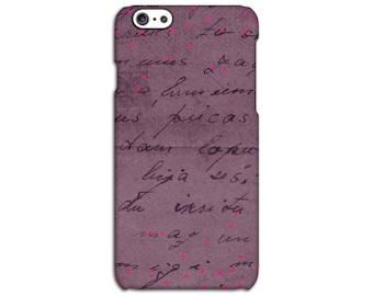 Burgundy Coloured Love iPhone Case