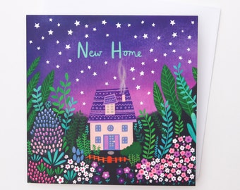 A Starry New Home Card