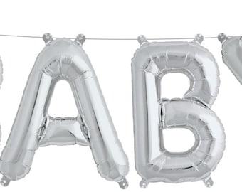 Baby Shower Balloon Decor   Mylar Letter Balloons