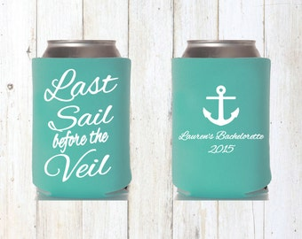 Cruise Last Sail before the Veil Beer Cozies Bachelorette Party