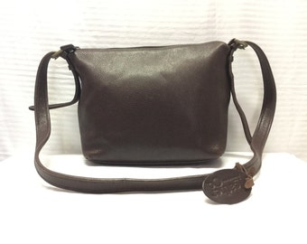 Leather and Co. , Brown Leather Purse, Shoulder Bag, Free US shipping
